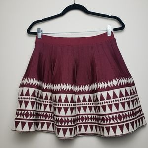 YA LOS ANGELES Aztec Mini Skirt